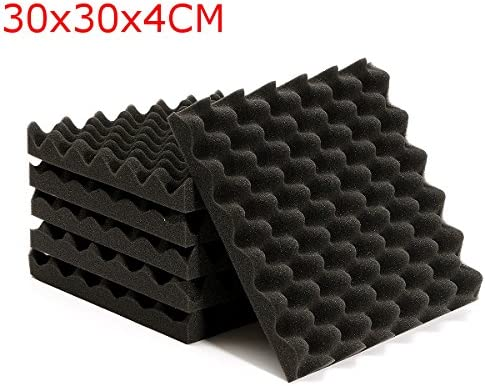 Queenwind 6Pcs 30x30x4cm 防音三角サウンド-吸収ノイズフォームタイル