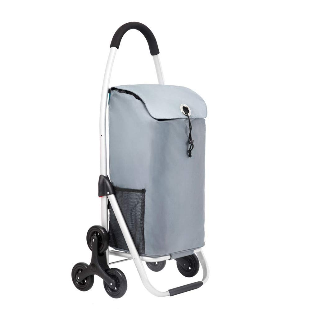 Lxrzls Climbing Shopping Cart ,Shopping Trolley ,Portable Cart Small Cart Folding Trolley (Color : Silver) by Lxrzls