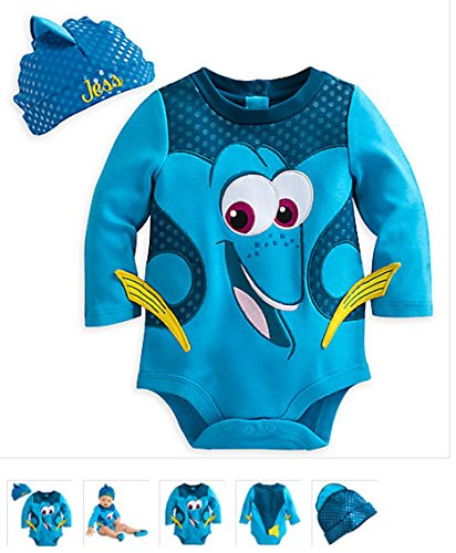 Costumes Finder (Disney - Dory Costume Bodysuit for Baby - Size 12 to 18 months)