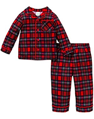 Baby Boys' Holiday 2 Piece Poly Pajama Set