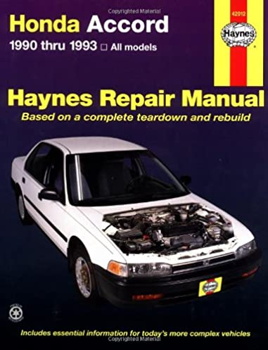 honda accord 1990 thru 1993 all models haynes repair manual rh amazon com F20B Prelude F22B Spec