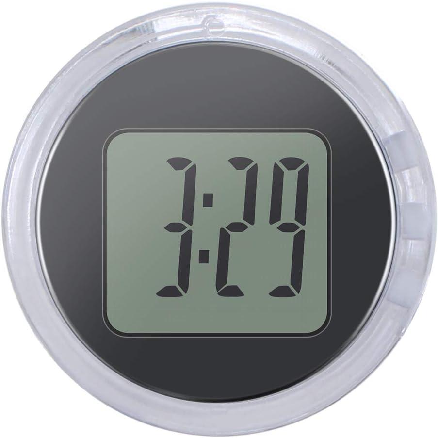 Vvciic Vvciic Mini Motorcycle Clock, Universal Digital Clock Watch Waterproof Sticky Motorbike Clock Dia. 1.1, Stick On Wall Bathroom Kitchen Clock