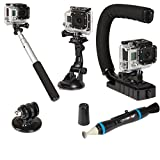 Sunpak ACTION-5 Action Camera Accessory Kit (Black)