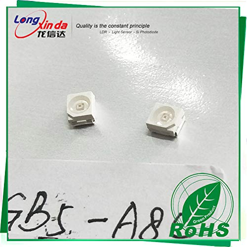Ambient Light Sensor IR Rejection(900nm) Visible Light Detector SMD3528 (Size:0.125x0.11inch) RoHS Compliant Cadmium-Free Alternative to Photoresistor (50PCS)