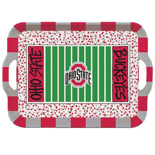 Collegiate Melamine Handled Serving Tray (Ohio State -