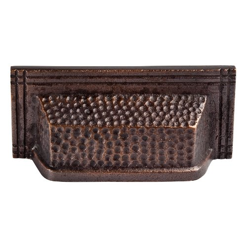 The Copper Factory CF118AN Solid Cast Copper Rectangular Bin Pull on 3-Inch Centers, Antique (Rectangular Bin Pull)