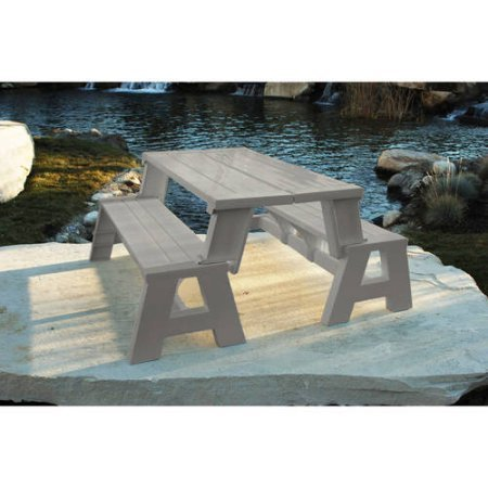 Durable Outdoor Convertible Patio Bench And Picnic Table, All Weather,  Perfect For Camping Trips