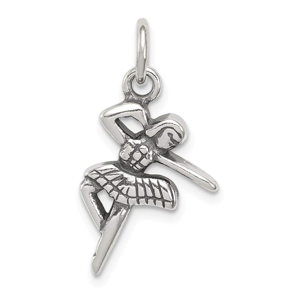 925 Sterling Silver Antique Ballerina Charm