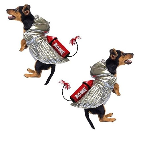 Dog Costume - ACME ROCKET SILVER SPACE DOG COSTUMES - Roadrunner(Size 4) by Puppe Love
