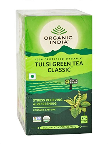 Organic India Tulsi Tea Green – 25 Count bags (Pack of 2) For Sale