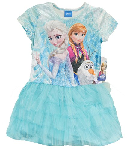 Disney Frozen Elsa the Snow Queen, Anna, and Olaf Youth Tutu Dress Costume (4/xs)