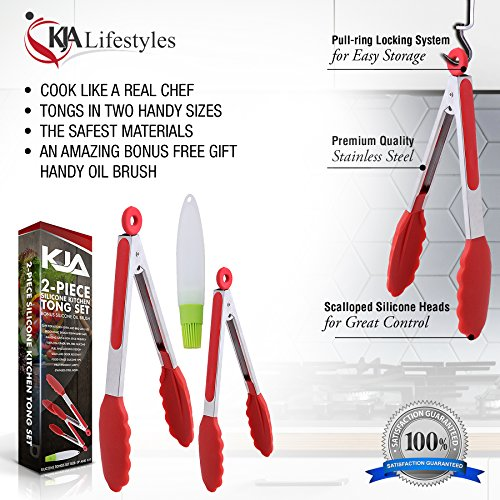 Image result for KJA Premium Kitchen Tongs
