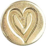 Manuscript Pen Decorative Seal Coin, 0.75-Inch, Heart