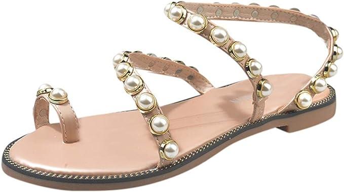 LANSKRLSP Sandali Donna estive Elegant Scarpe Donna estive Eleganti Scarpe Donna Medio Sandali Gioiello Donna Estate Sandali Scarpe Romane Infradito