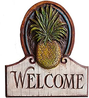 product image for Piazza Pisano Pineapple Welcome House Sign Large Size