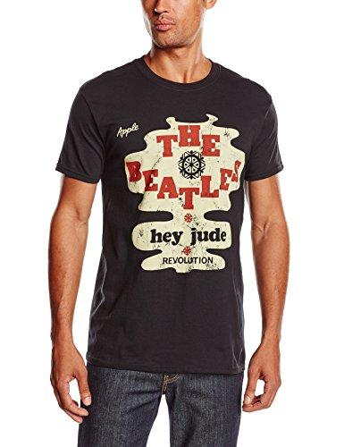 The Beatles Men's Hey Jude Revolution Short Sleeve T-shirt, Black, ()