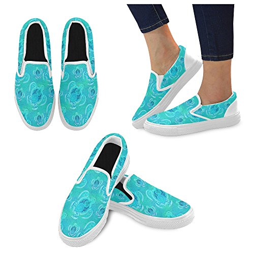 Scarpe Da Donna Slip-on In Tela Multicolore29