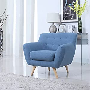 Case Andrea Milano™ Mid Century Modern Tufted Button Living Room Accent Chair