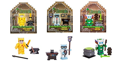 Terraria Basic Collector's Figures with accessories x 3 Gold Armor Player, Witch Doctor, and Goblin Tinkerer by Terraria (Image #1)