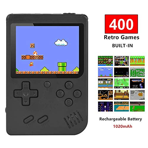 Handheld Game Console, TAPDRA Retro Game Console with 400 Classic Games 3.0 inch Screen Portable Game Console, Good Gifts for Kids ()