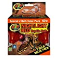 Zoo Med Nightlight Reptile Bulb, 60-watt, Red, 2-Pack from Zoo Med