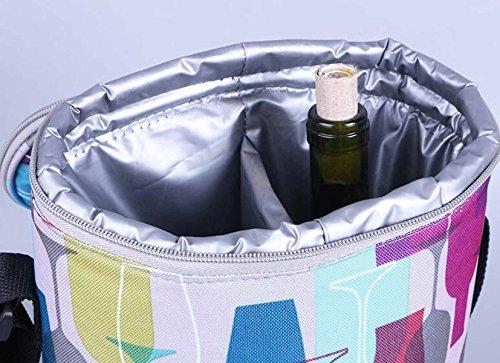 Borsa Termica Esterna Di Raffreddamento Portatile Borse Borsa Cerniera Wine Cooler Bag