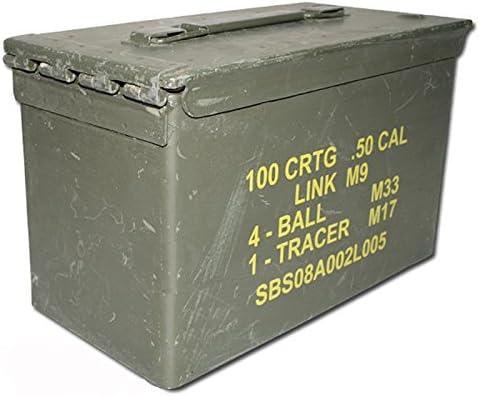 Miltec 91592600 - Caja para munición estilo armada americana en metal verde caqui, de ocasión: Amazon.es: Deportes y aire libre