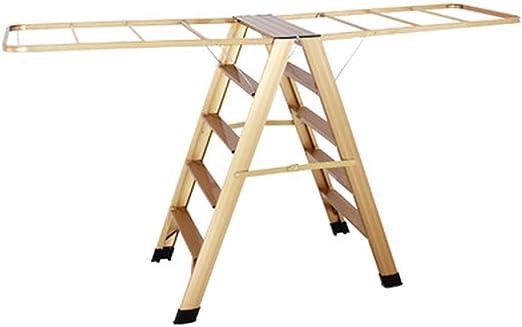 XMZFQ Rack de Secado de Ropa 2 en 1 Rack de Secado de lavandería Escalera de Tijeras de Aluminio para Trabajo Pesado,Gold: Amazon.es: Hogar
