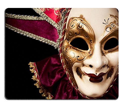 [MSD Mousepad IMAGE ID 19315807 Carnival in Venice image with ample copyspace Isolated On black] (Venice Carnival Costumes Ideas)