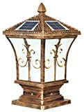 Smart Light Extra Large Solar Post Cap in Antique Brown
