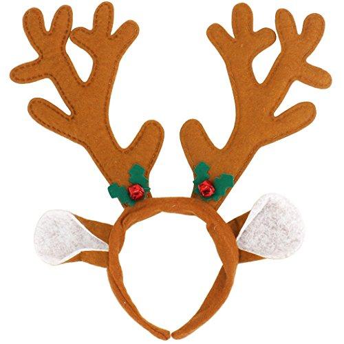 Olen Diadema Cuernos Reno Cuernos Ciervo Disfraz Decoracion Navidad: Amazon.es: Juguetes y juegos