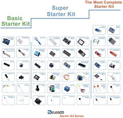 ELEGOO Carte Starter Kit de Démarrage Super avec Guide d'Utilization Français pour Débutants et Professionnels DIY Compatible avec Arduino IDE