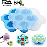 Y-STOP Silicone Egg Bites Mold for Instant Pot Accessories - Suitable for Homemade Baby Food Instant Pot 5 6 8 qt Pressure Cooker,Reusable Storage Containers and Frozen Tray,(As seen as on TV)