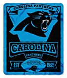NFL Carolina Panthers Marque Printed Fleece Throw, 50-inch by 60-inch