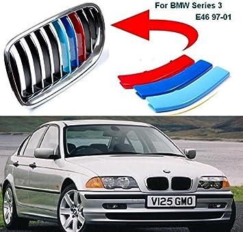 BizTech ® Parrillas de coche Inserciones Rayas decoración para BMW Serie 3 1998-2001 E46 10 rejillas M Power M Sport Tech: Amazon.es: Coche y moto