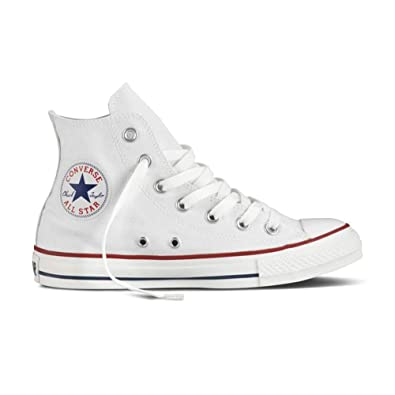 Converse Unisex Chuck Taylor All Star Hi Top Optical White Sneaker - 8 B(M