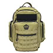 HSD Diaper Bag Backpack + Changing Pad, Insulated Pockets, Stroller Straps for The Tactical Dad (Black)