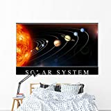 Solar System Poster Wall Mural by Wallmonkeys Peel and Stick Graphic (72 in W x 48 in H) WM322061
