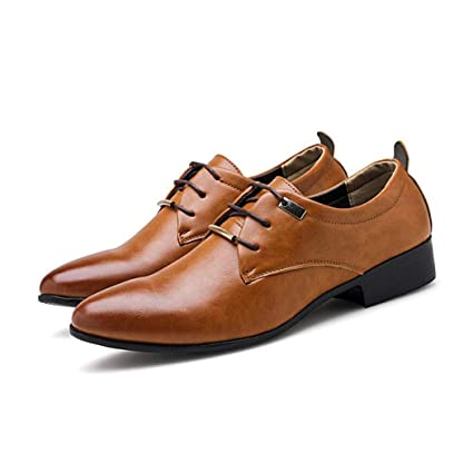 ZIXUAP Zapatos Oxford de Vestir para Hombre de Charol Tuxedo Moc Toe Slip-on Mocasines