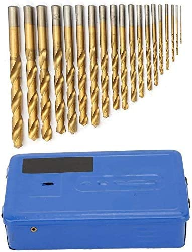 Gold Aluminium Portable Industrial Use Tool Stainless Steel Iron 19 Pieces 1mm-10mm HSS Twist Drill Bit Set for Titanium and Cobalt Drill Copper