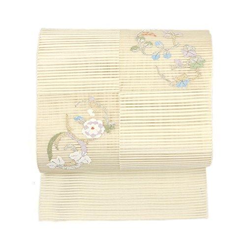 ラケット踊り子土器夏絽 京袋帯 一重太鼓袋帯 花輪