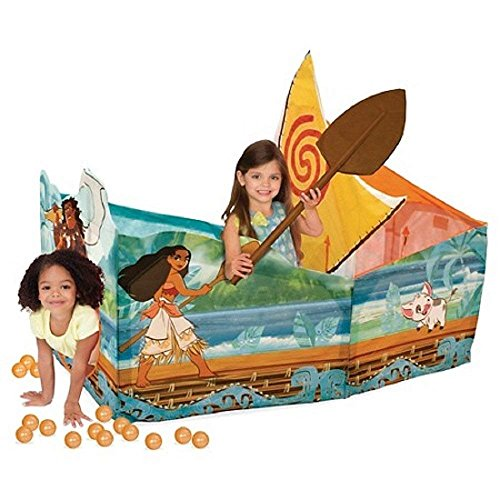 (Disney Moana Adventure Canoe Playhut Tent Ball Pit)