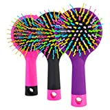 Pet bath Hair Comb Professional Rainbow Comb Rainbow Volume Anti-Static Magic Hair Curl Straight Massage Comb Brush Mirror Styling Tools Rose Red