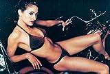Rebecca Gayheart in bikini on motorcycle 4x6 glossy photo Z2827