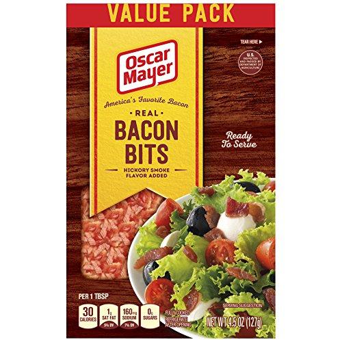 Recipes Bits Bacon (Oscar Mayer Real Bacon Bits, Hickory Smoked, 4.5 Ounce Bag (Pack of 6), Packaging may vary)