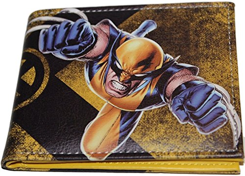Marvel Comics (X-Men) Wolverine Claws Out Leather Bi-Fold Men's Boys Wallet with Gift Box