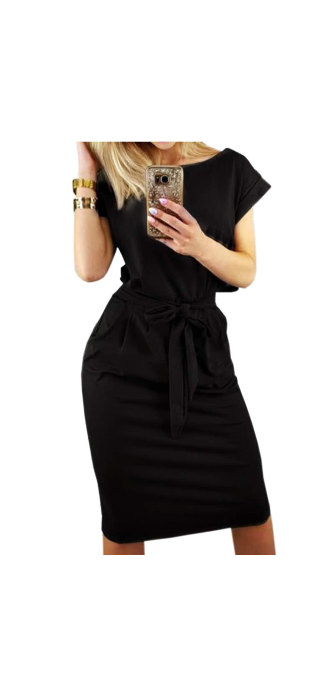 Women's Striped Elegant Short Sleeve Wear To Work Casual