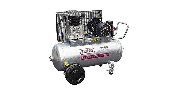 Elmag Meister-Z 600/10/100 D - Compresor (galvanizado): Amazon.es ...