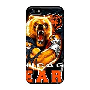 Anti-Scratch Hard Phone Cases For iphone 5c With Customized Stylish Chicago Bears Pattern SherriFakhry