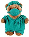 Doctor Teddy Bear In Green Surgeon Scrubs